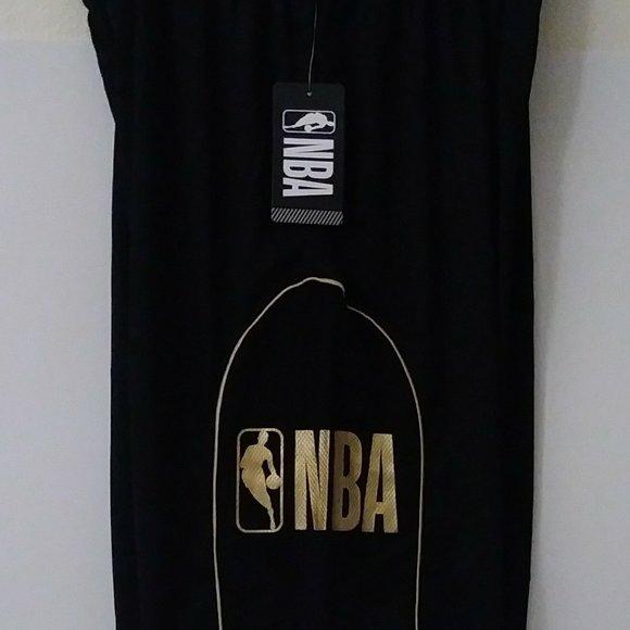 NBA Black w/Gold Logo Medium Short with 2 pockets